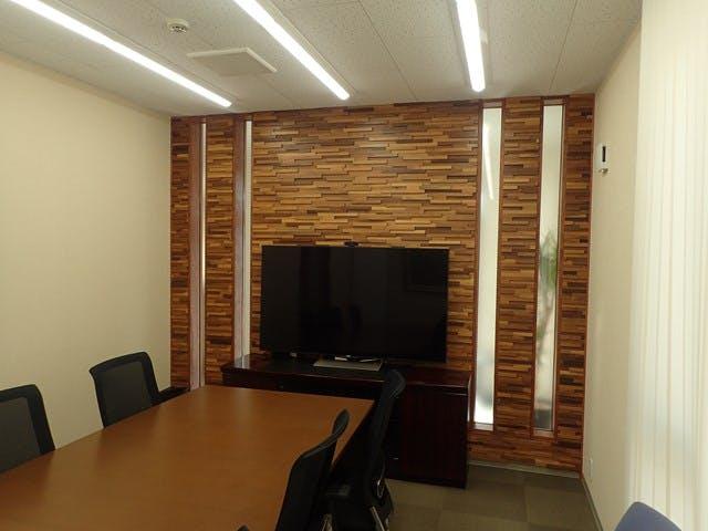 ウッドパネル アクセントウォール デザインウォール オフィス会議室壁