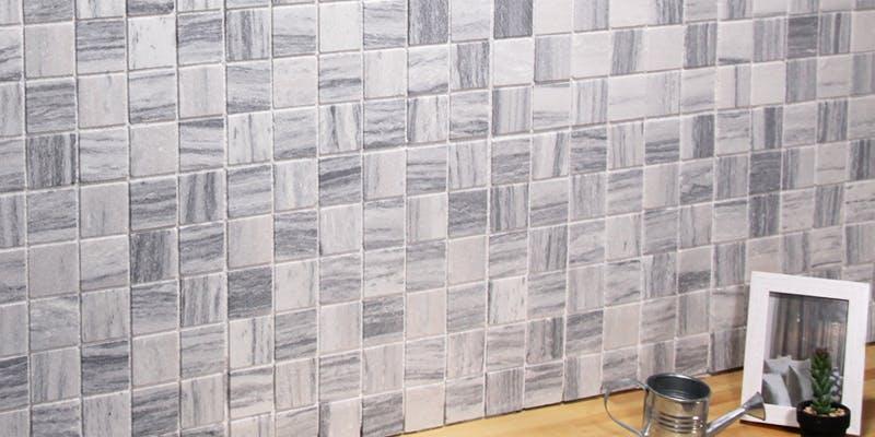 ストーンパネル アクセントウォール デザインウォール Stone Mosaic ストーンモザイク モザイクグレイ