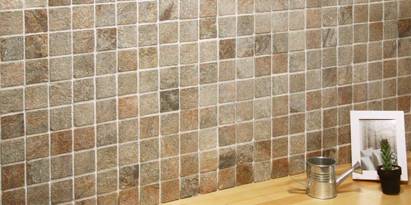 ストーンパネル アクセントウォール デザインウォール Stone Mosaic ストーンモザイク モザイクブラウン