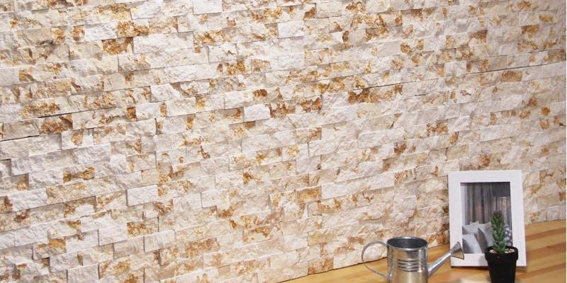 ストーンパネル アクセントウォール デザインウォール Stone Mosaic ストーンモザイク マーブルイエロー