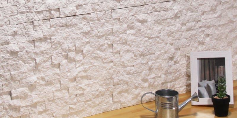 ストーンパネル アクセントウォール デザインウォール Stone Mosaic ストーンモザイク ピュアホワイト