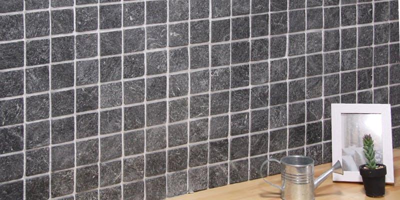 ストーンパネル アクセントウォール デザインウォール Stone Mosaic ストーンモザイク モザイクブラック