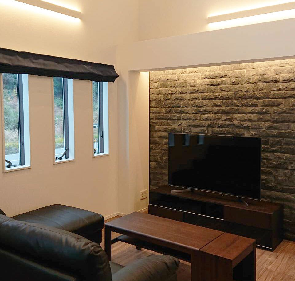 ストーンパネル アクセントウォール デザインウォール リビング 石材パネル 天然石 『Flagwall フラッグウォール』