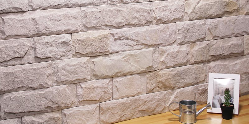 ストーンパネル アクセントウォール デザインウォール Flagwall フラッグウォール アースホワイト