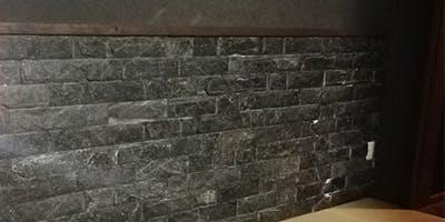 リビング腰壁 施工事例 アースブラック