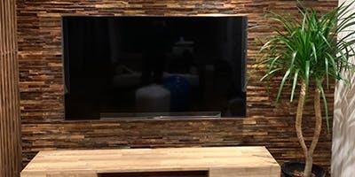 壁掛けテレビ 施工事例 ティンバーアプリコット