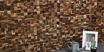 ウッドパネル アクセントウォール デザインウォール Wood Mosaic ウッドモザイク
