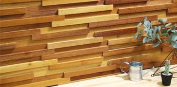 Neo Wood Clad ネオウッドクラッド コーディアルミモザ ウッドパネル ストーンパネル アクセントウォール デザインウォール